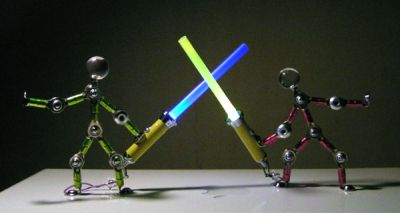 Acrobots with lightsabers