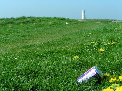 Litter in the wrong place, Leasowe Lighthouse