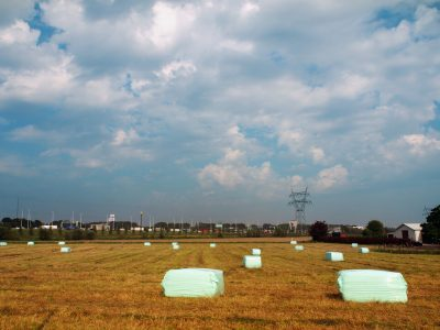 Romantic hay bales, city version