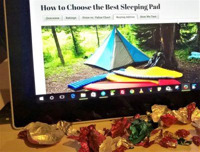 Chocolate camping